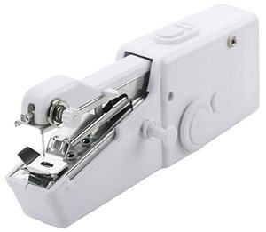Image 4 - Mini Portable Handheld Sewing Machines Handy Stitch Clothes Fabrics Sew Needlework Cordless Electric Sewing Machine