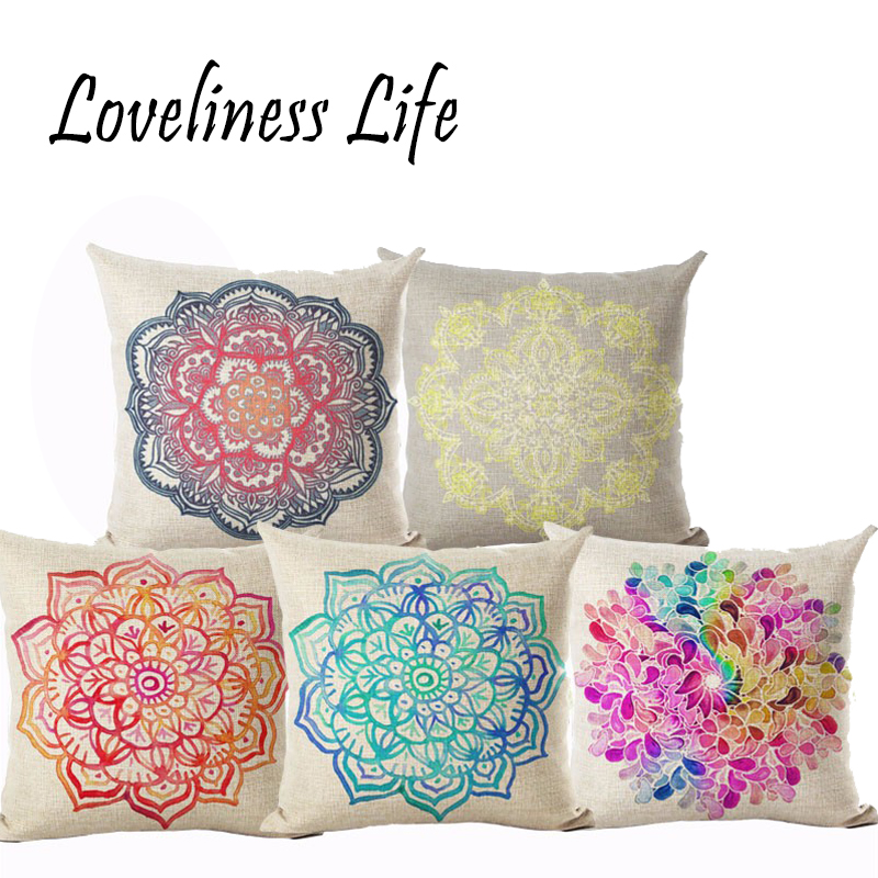 2016 New Design Paisley Pillowcase Bohemian Cushion Cover Geometric Chair Seat Sofa Wedding Throw Pillows Decorative Cojines