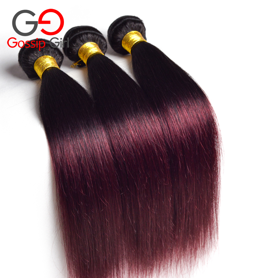 Solution Ombre Brazilian Hair Straight 1b 99jburgundy Brazilian Hair