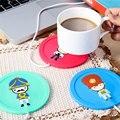 Criativa dos desenhos animados de silicone russa isolamento elétrico dispositivo usb aquecimento xícara de café do escritório chá warmer pad mat
