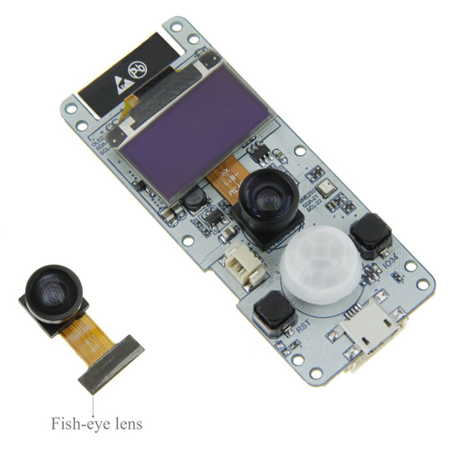 DIY ESP32-WROVER Bluetooth 4.2 Dual-core Camera Module Mini OV2640 Electronic Board 0.96 OLED PSRAM Wireless Photograph