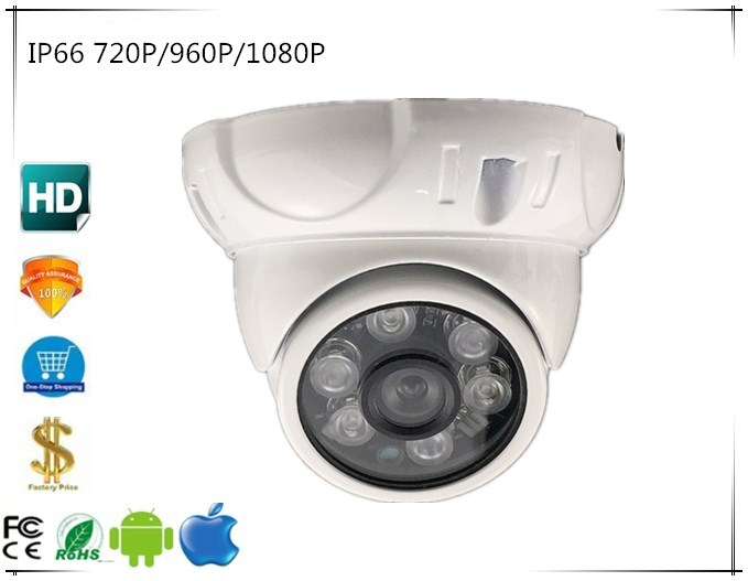 Security & Protection Trend Mark 720p/960p/1080p Ip Hd Dome Camera Metal Ip66 Waterproof Outdoor 6 Leds Infrared Irc Nightvision Audio 48v Poe Onvif Cms Xmeye