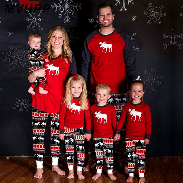 Mvupp 2018 Familia Pijamas De Navidad Conjuntos A Juego Mama Y Me