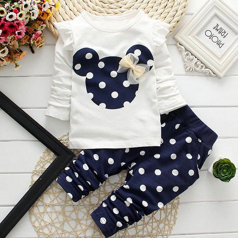 Girls Clothes Kids T-shirt Legging Pants Sport Suit  Toddler Girl Clothing Suit  Sports Girl Suit  Minnie Holiday Children Sets retail 2016 new girls clothing sets baby kids clothes children clothing full sleeve t shirt leopard legging birthday gift sets