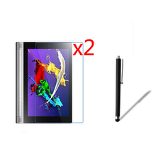 3in12x LCD Clear Screen Protector Films Protector de pantalla Guardia de Cine + 1x stylus pen para lenovo yoga 2 10.1 1050 1050f tablet 10.1″