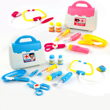 15PCS set Simulation Doctor Toys Girl gift Classic toys Simulated Nurse Medical Doctor Tool Box kids Medicine Toys Pretend Play