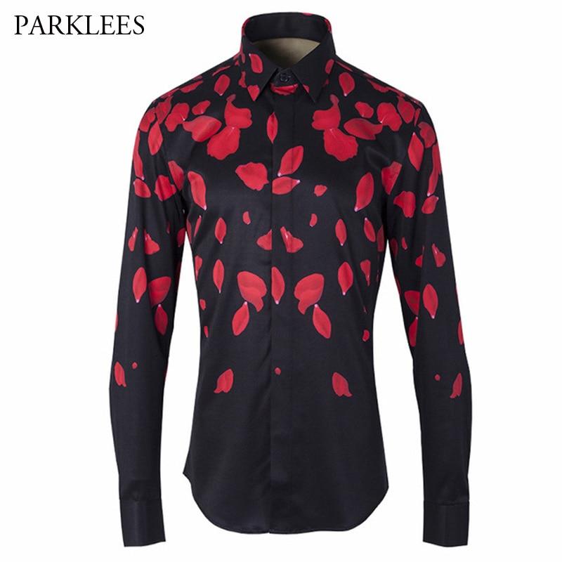 Polka Dot Mens Dress Shirts 2017 Brand Designer Casual Long Sleeve Cotton Slim Fit Men Shirt White Black Chemise Homme Clothes