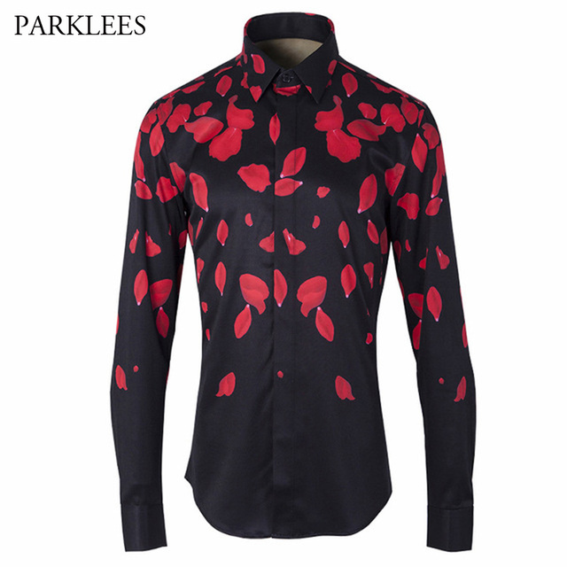 Polka Dot Mens Dress Shirts 2017 Brand Designer Casual Long Sleeve ...
