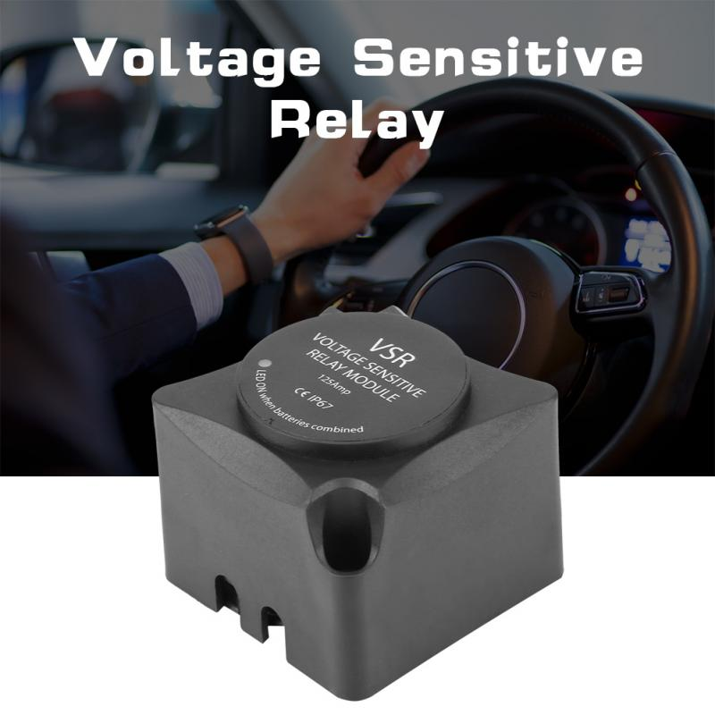 Voltage Sensitive Relay (VSR)  Automatic Charging Relay 125A Dual Battery Isolator (VSR) Car Accessories car battery relay Black(China)