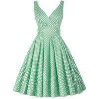Grace Karin 2014 Vintage Polka Dots Swing 50s Housewife Pinup Rockabilly Retro Prom Party Dress XS