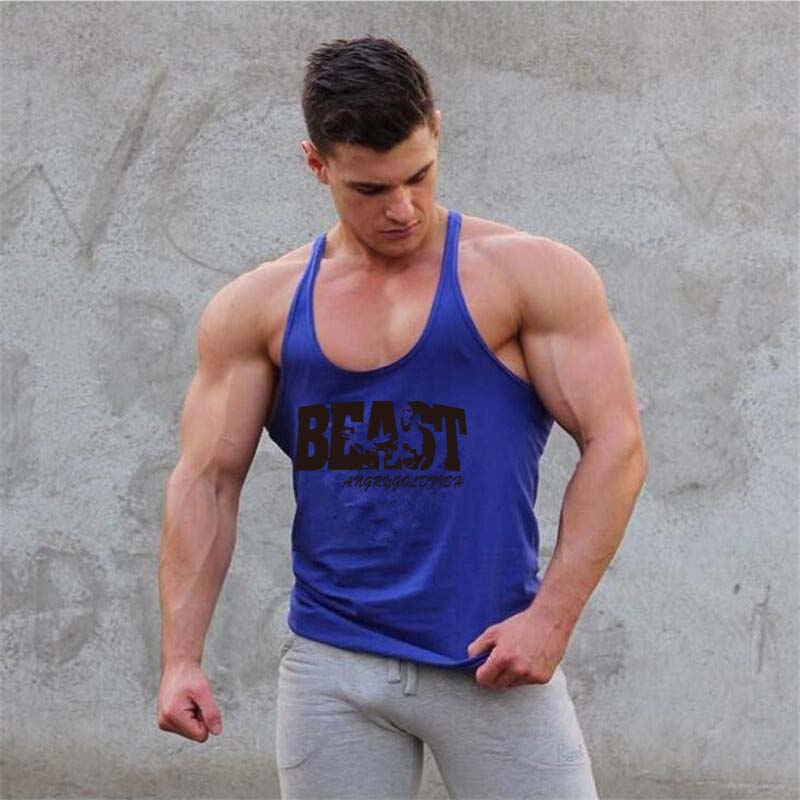 2018 mens fashion vest cotton Tight tank top home sleep Casual Solid t-shirts gay Sexy Asian size Casual sleeveless garment