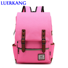 Free delivery Most widespread boys ladies backpack of Vintage girls backpacks of high quality canvas males girls Leisure backpacks