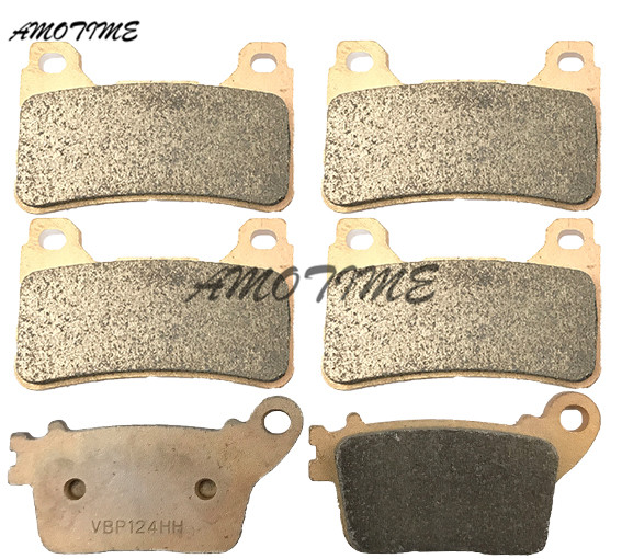 Motorcycle Parts Copper Based Sintered Motor Front & Rear Brake Pads For Honda CBR600RR F5 2007-2014 CBR1000RR 2006-2014