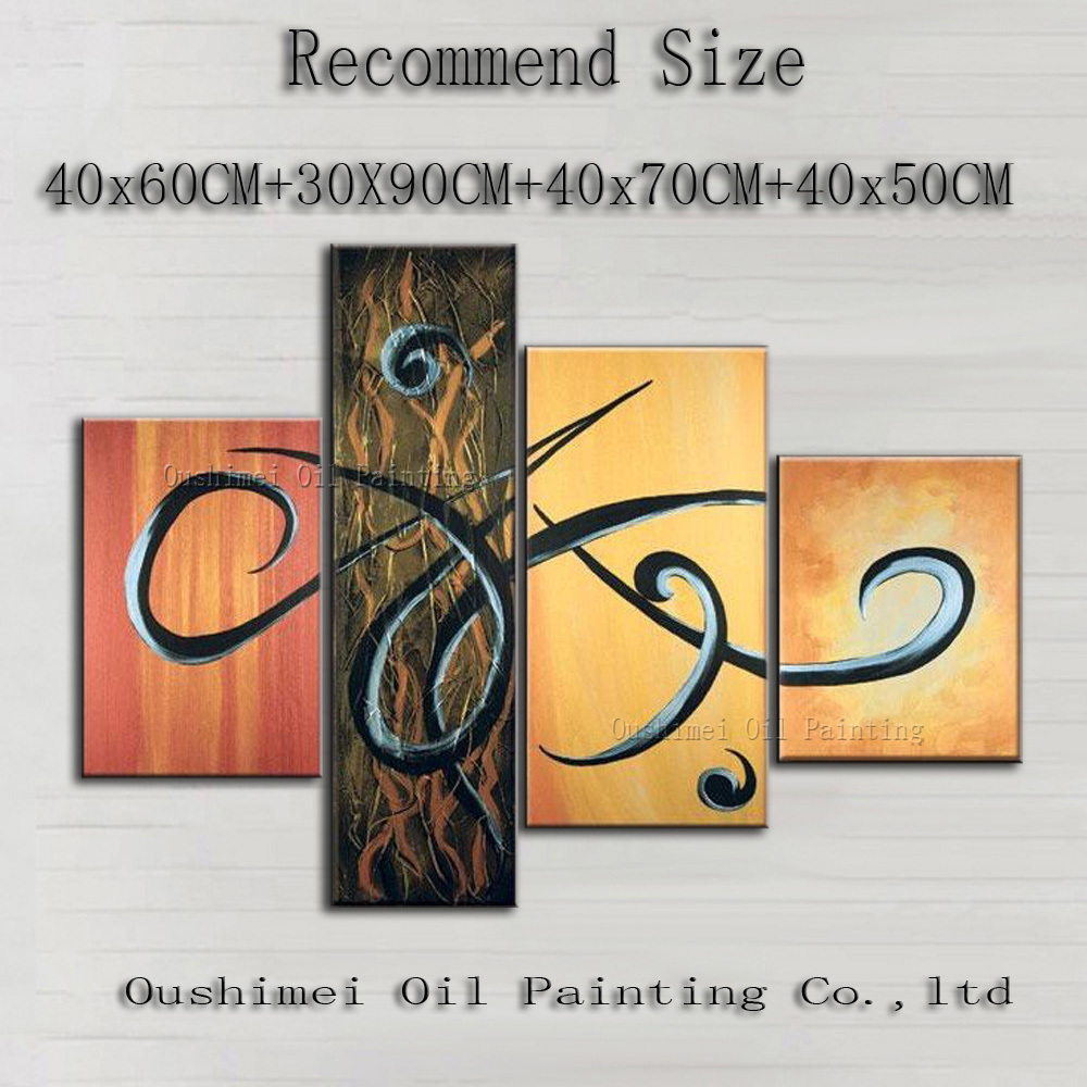 Top Supplier Wholesale High Quality Abstract Islamic Painting On Canvas Handcraft Wall Decor Painting For Hotel Art Decoration