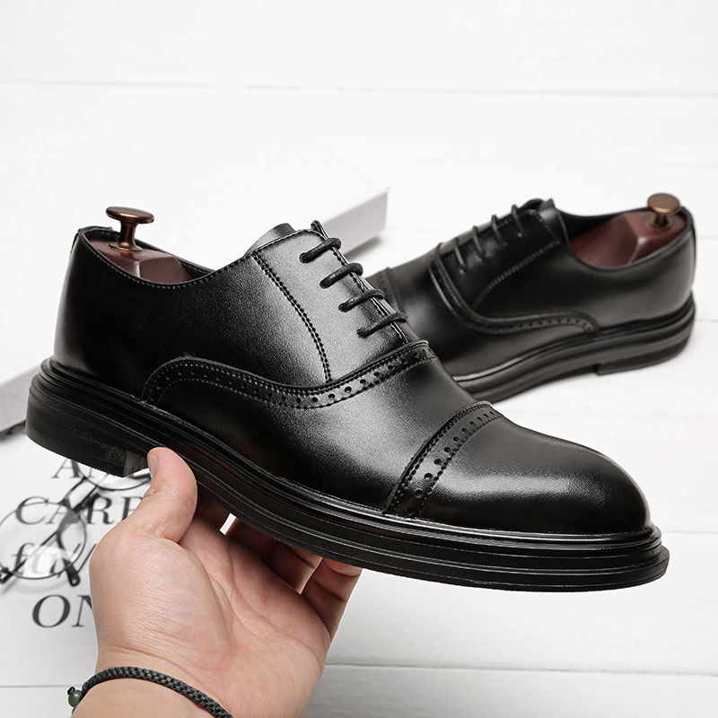 Dos De Sapatos Escritório Vestem Negócios Genuíno Do Se Brogue Flats Willden Formal Casamento Couro Homens marrom chocolate Retro Jack Oxfords Preto Para xAqXZwIA