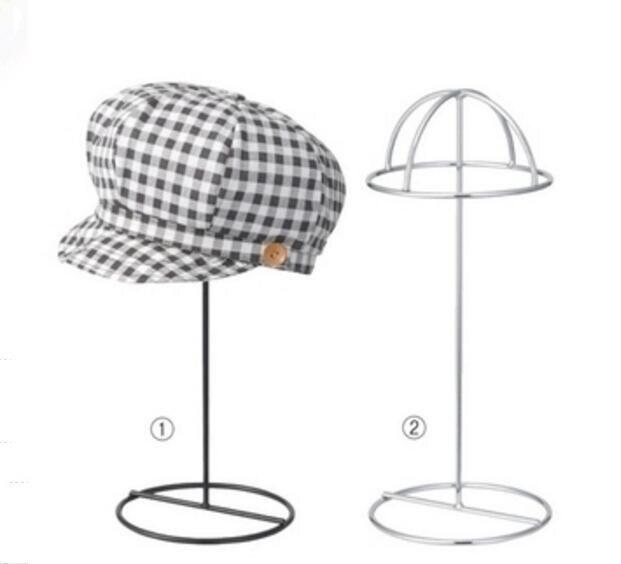 Black/White Hat display rack metal peak cap display stand