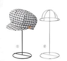 Black/White Hat display rack metal peak cap display stand bucket hat straw hat sunhat shelf holder wig hairpiece storage rack