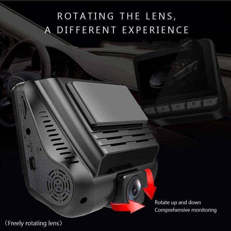 AZGIANT S28 Vision nocturne double lentille voiture DVR e dog son guerre Overspeed caché Dash Cam enregistreur vidéo boucle enregistrement g sensor - 4