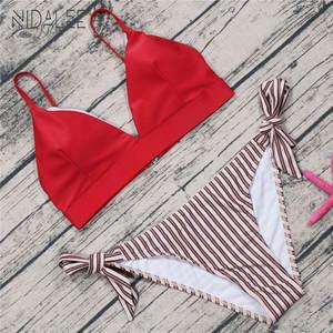 31e4abdecae women s swimsuit swimwear set XL Ladies swimwear Sexy bikini 2018 push up  Red bra