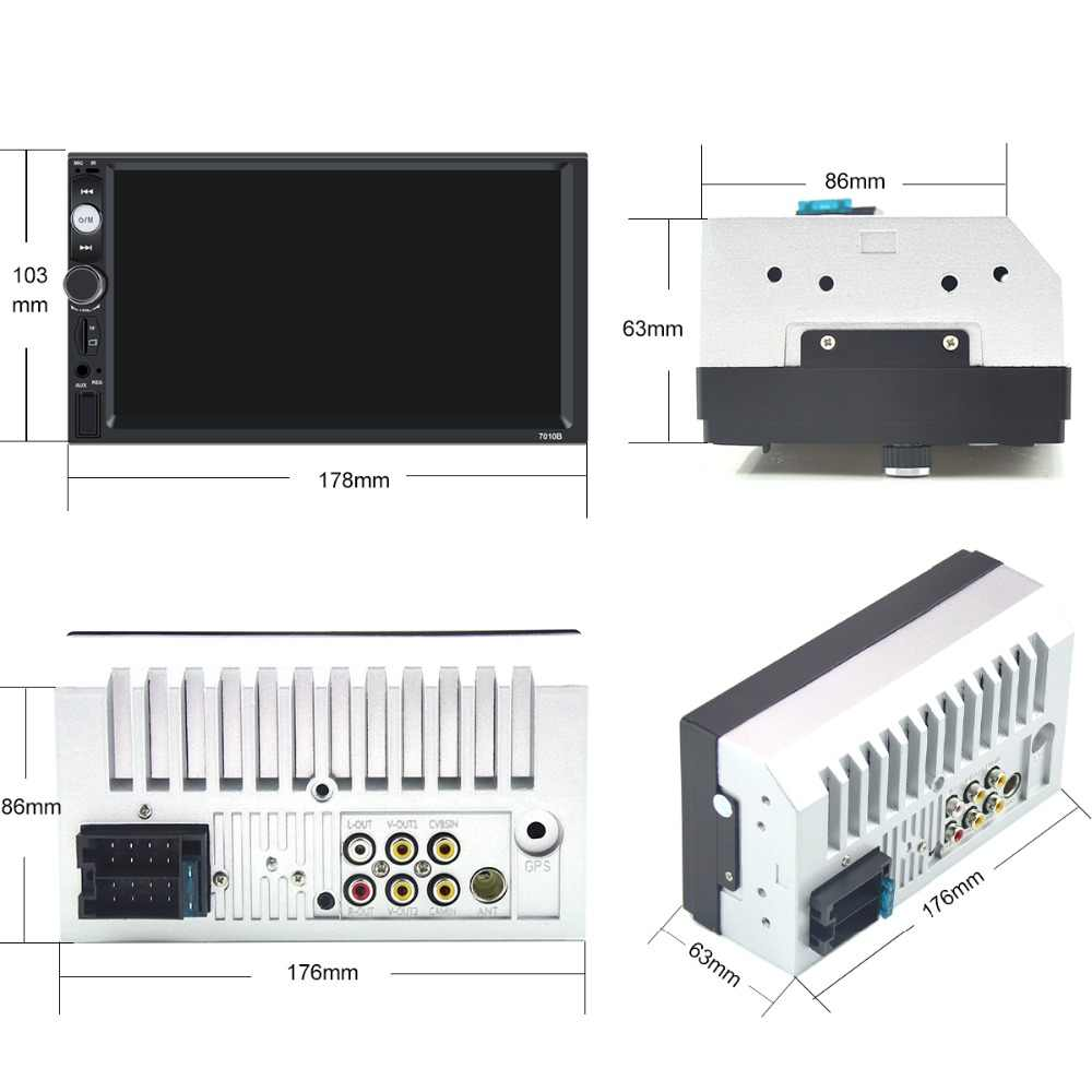 2 Din カーラジオプレーヤー 7 インチ HD マルチメディアカメラユニバーサル MP5 Autoradio Bluetooth オーディオミラーリンク gps ナビゲーション 7010B DVR