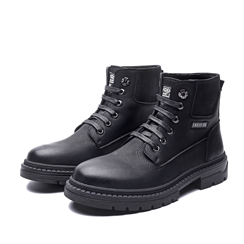 À Travail Sécurité Low Main Chaussures De Heel Bottes Automne En Increased b0037 Style Cuir Cheville Au Lmx Fou Martin Britannique Hommes Shoes height La Split ZnOq5RT