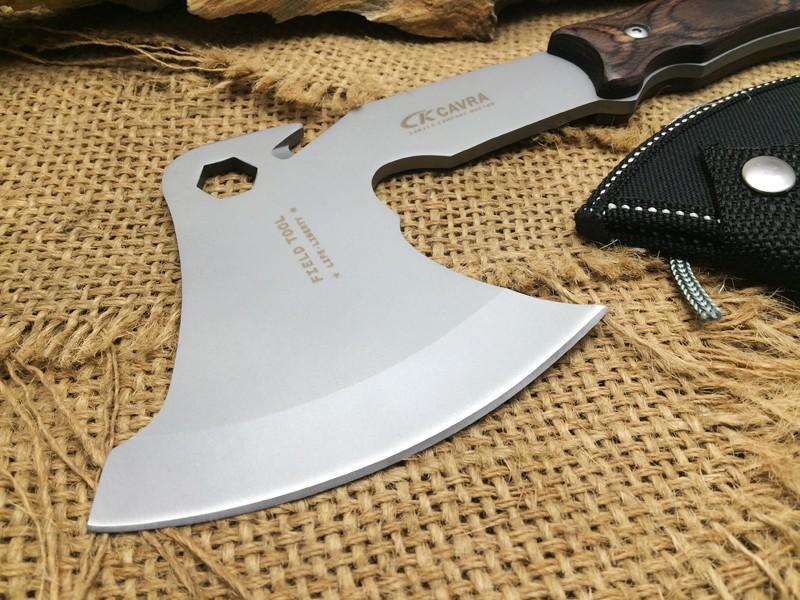 Buy 2 Color CK F08 Wood Handle Camping Survival Tomahawk Hunting Hand Axe 5Cr15Mov Blade Milti EDC Tools Nylon Sheath Hot Sale CS GO cheap