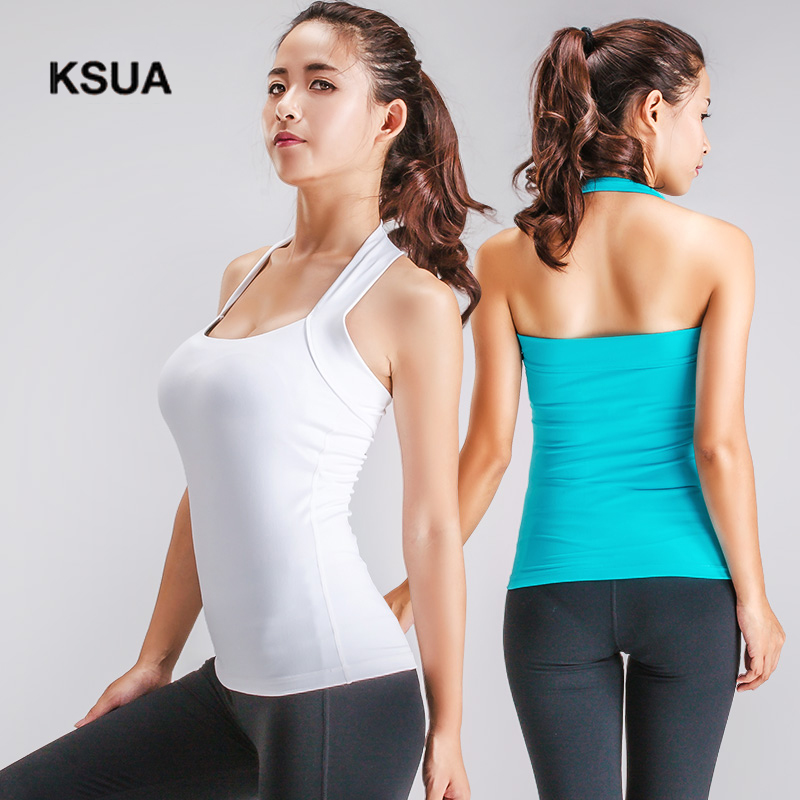 KSUA Tracksuit Women Fitness Yoga Sports Bra Crop Top Gym Cropped Women's Underwear Cueca Brasier Deportivo Yoga Tank Top Colete лампа светодиодная 10215 e14 6w 4500k шар матовый led g45 6w nw e14 fr o