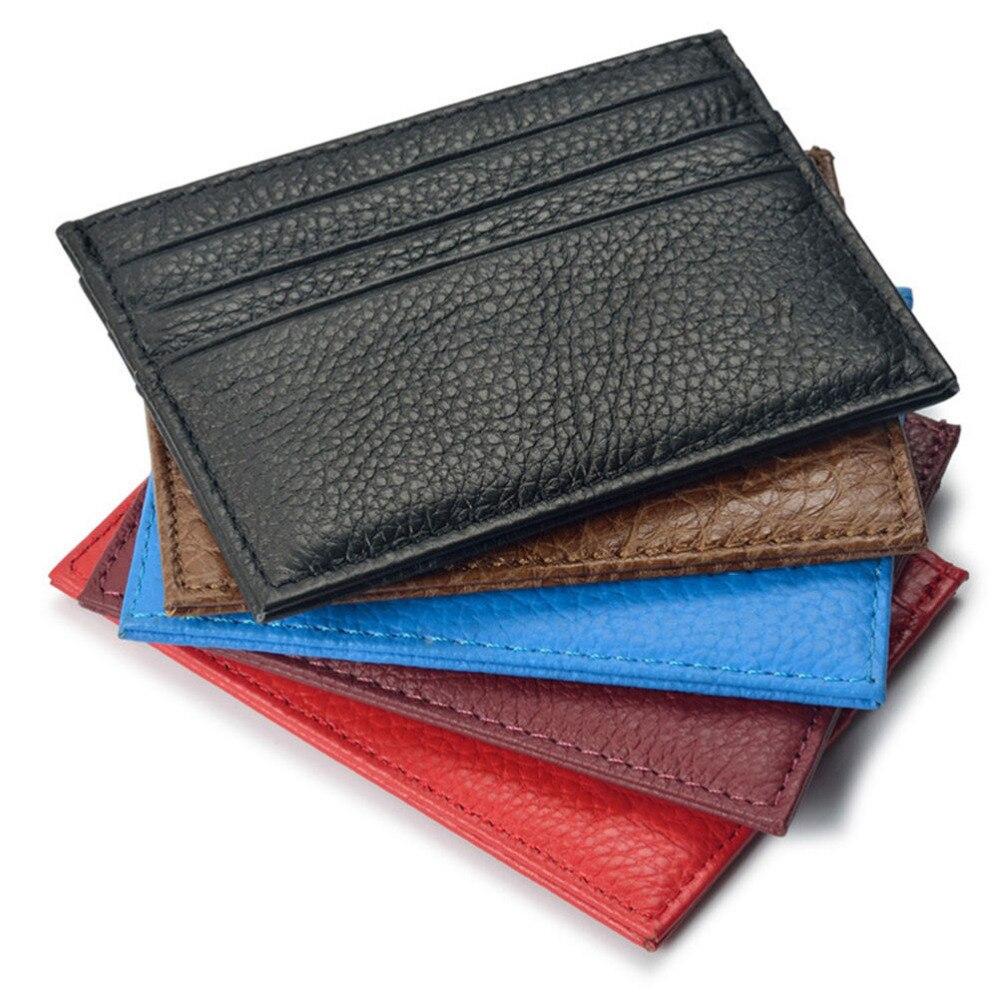 1 pièces Vintage en cuir argent Clips mince portefeuille porte-cartes cartes porte-clés cartes Pack poche d'argent
