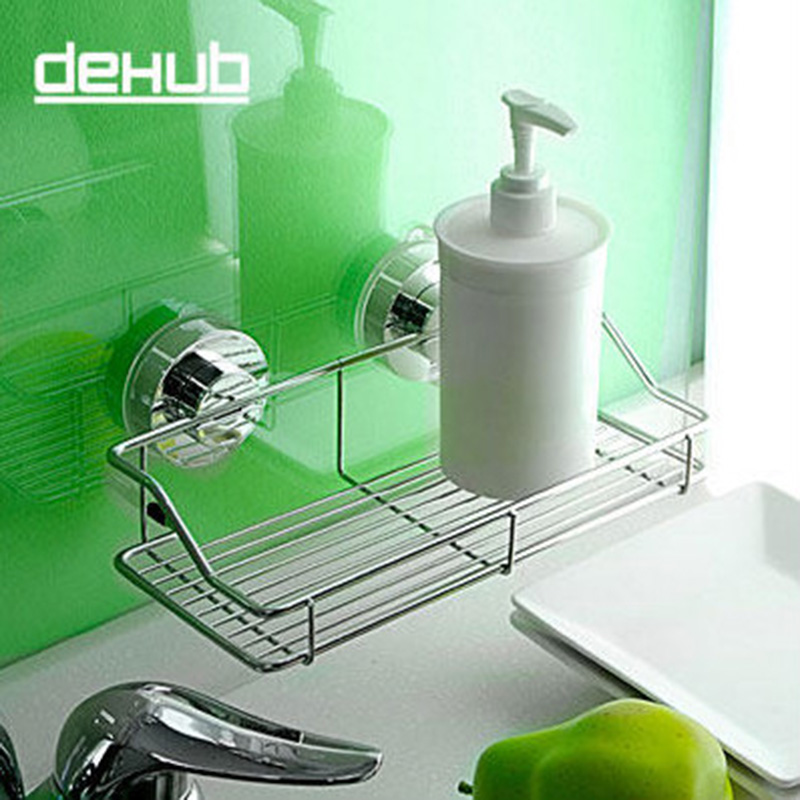 Stainless Steel  Suction Kitchen Accessories Organizer Wall Mounted Storage Rack Spice For