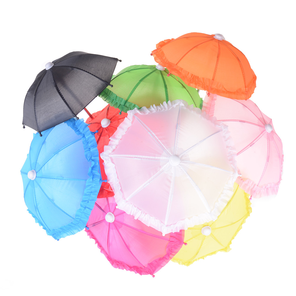 New Style Mini Umbrella Rain Gear For 18'' AG Gotz Dolls Accessory Birthday Girl Gift For Children