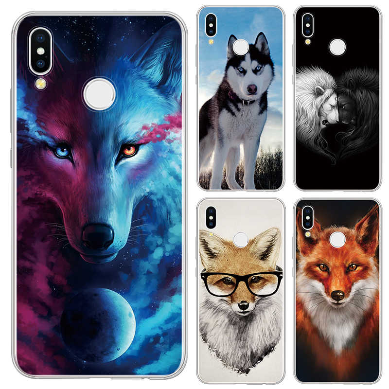 Ultra-thin Soft Silicone TPU Fox Wolf Cover For Huawei P30 P20 Mate 20 10 P10 P9 P8 Plus Pro Lite mini 2017 P Smart Z 2019 Case