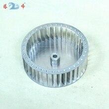 small fan blower 118mm diameter 42mm height aluminum centrifugal  impeller blade 6mm shaft top sale replacement 0 5 inner bore 10 impeller air compressor motor fan blade black