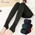 thicken fleece leggings navy women 2017 autumn spring wild bottoming essential warm leggings anti-pilling black leggings women