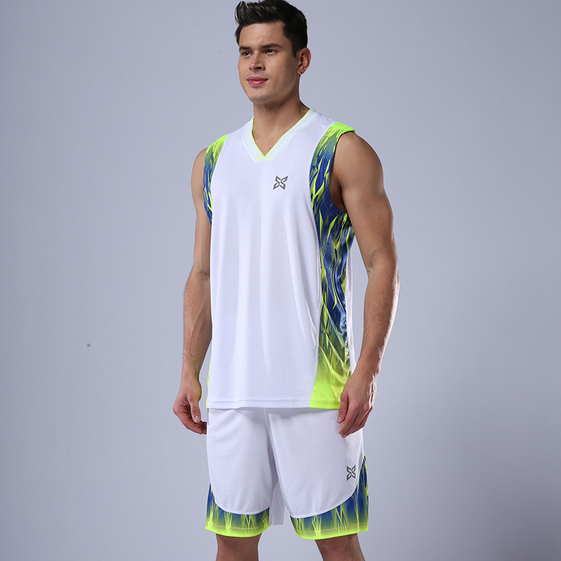 High Quality Men Basketball Jerseys Sets College Basketball Jerseys Suit Pockets Throwback Men Basketball Jerseys Uniform Custom