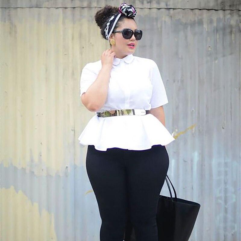 a6581cd605e1 Mnealways18 Κοσμήματα Μέγεθος Μόδα Γυναικεία πουκάμισα Peplum Tunic ...