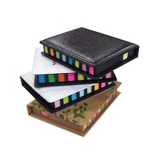 New Fashion Leather Box Memo Pad DIY Cute Kawaii Colored Paper Sticky Note Sticker Creative Gift Novelty Items