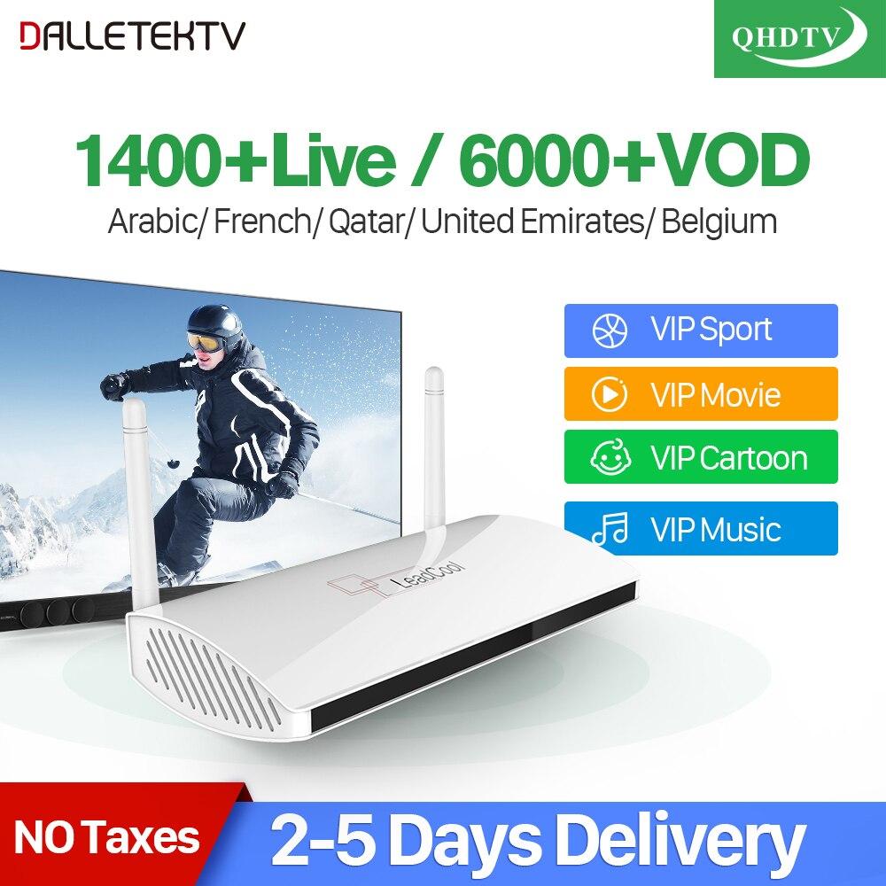 Leadcool IPTV Frankreich Arabisch Box Android 7.1 QHDTV 1 Jahr Code IPTV Spanien Frankreich Arabisch Tunesien Niederlande Belgien IPTV Top Box