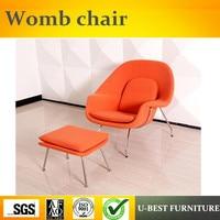 U BEST Modern Living Room Womb Armchair Stainless Steel Fiberglass Womb Chair Replica