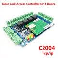 Четырехдверный контроллер доступа RFID плата контроля доступа TCP/IP многодверный контроллер доступа системы защиты бесплатное английское про...