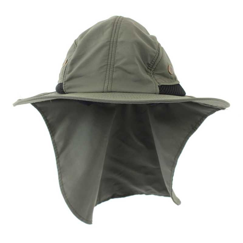 28822a92 ... Men Summer Sunscreen Hats UPF 50+ Hat Outdoor Sun Shading Anti  Ultraviolet Ray Beach Hat