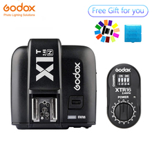 Godox XTR-16 Wireless 2.4G Power Control Flash Receivers + X1T-N TTL Wireless Transmitter for Nikon AD180 AD360 цена 2017