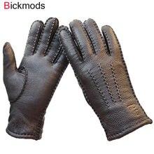 dd3eb7d9ff660d Łubin rękawice kobiet cienka wełna podszewka ręcznie szyte jesień ciepłe na  zewnątrz podróży czarny panie jazdy skórzane rękawic.