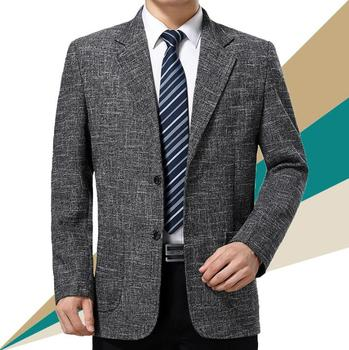 Spring middle-aged casual jacket men blazer masculino slim fit clothes mens suit casaco jaqueta business coats man outerwear