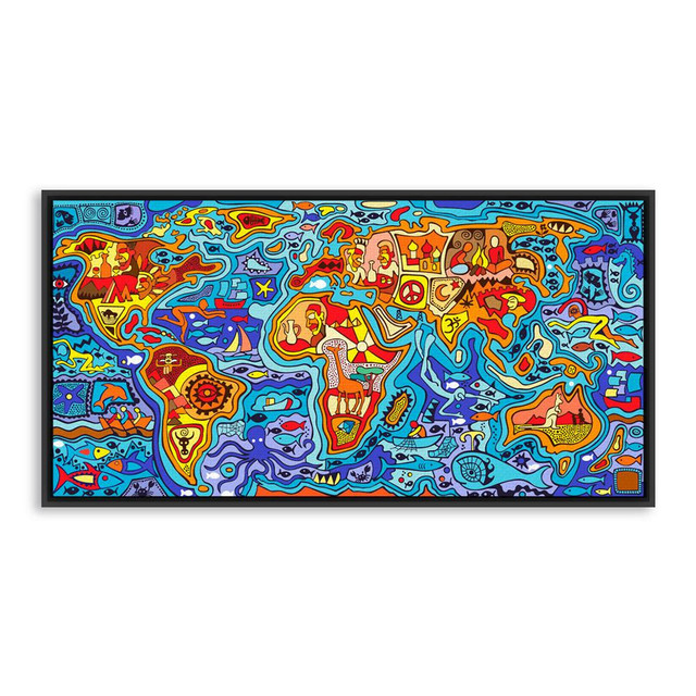 Colorful world map art prints poster modern pop abstract wall colorful world map art prints poster modern pop abstract wall picture canvas painting picture for kids gumiabroncs Gallery