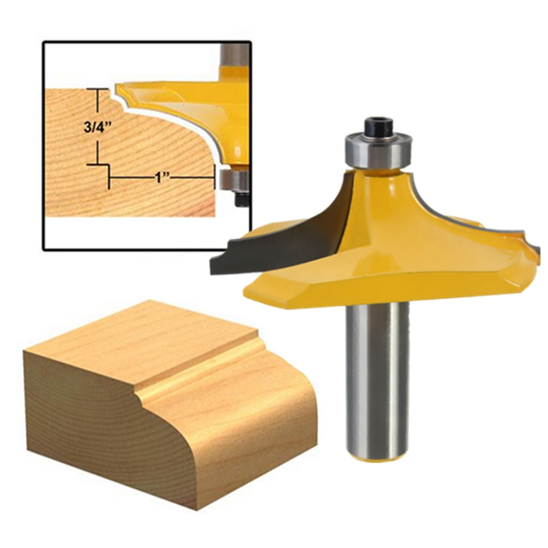 1/2 inch Shank Ogee Chisel Cutter Edging Router Bit Door Woodworking Carpentry Tool high grade carbide alloy 1 2 shank 2 1 4 dia bottom cleaning router bit woodworking milling cutter for mdf wood 55mm mayitr