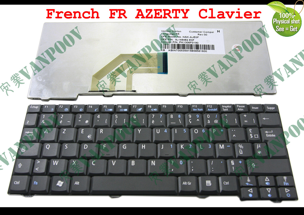 New Laptop Keyboard For Acer Aspire One 531h D150 D250