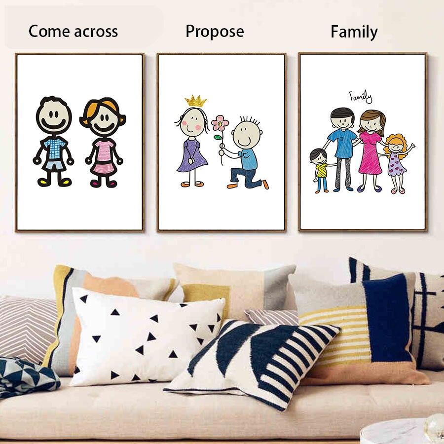 ⑧Amor propone matrimonio bebé familia felicidad arte impresión ...