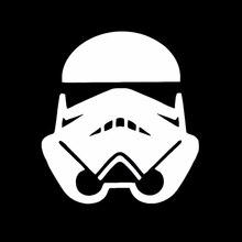 Штурмовика из мультфильма «Звездные войны Space Wars виниловая самоклеящаяся наклейка в стиле JDM дрейф Illest автомобиль евро грузовик внедорожни...