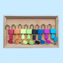 Wooden Montessori Toys Infant Colorful Lock Set Preschool Educational Learning Toys For Children