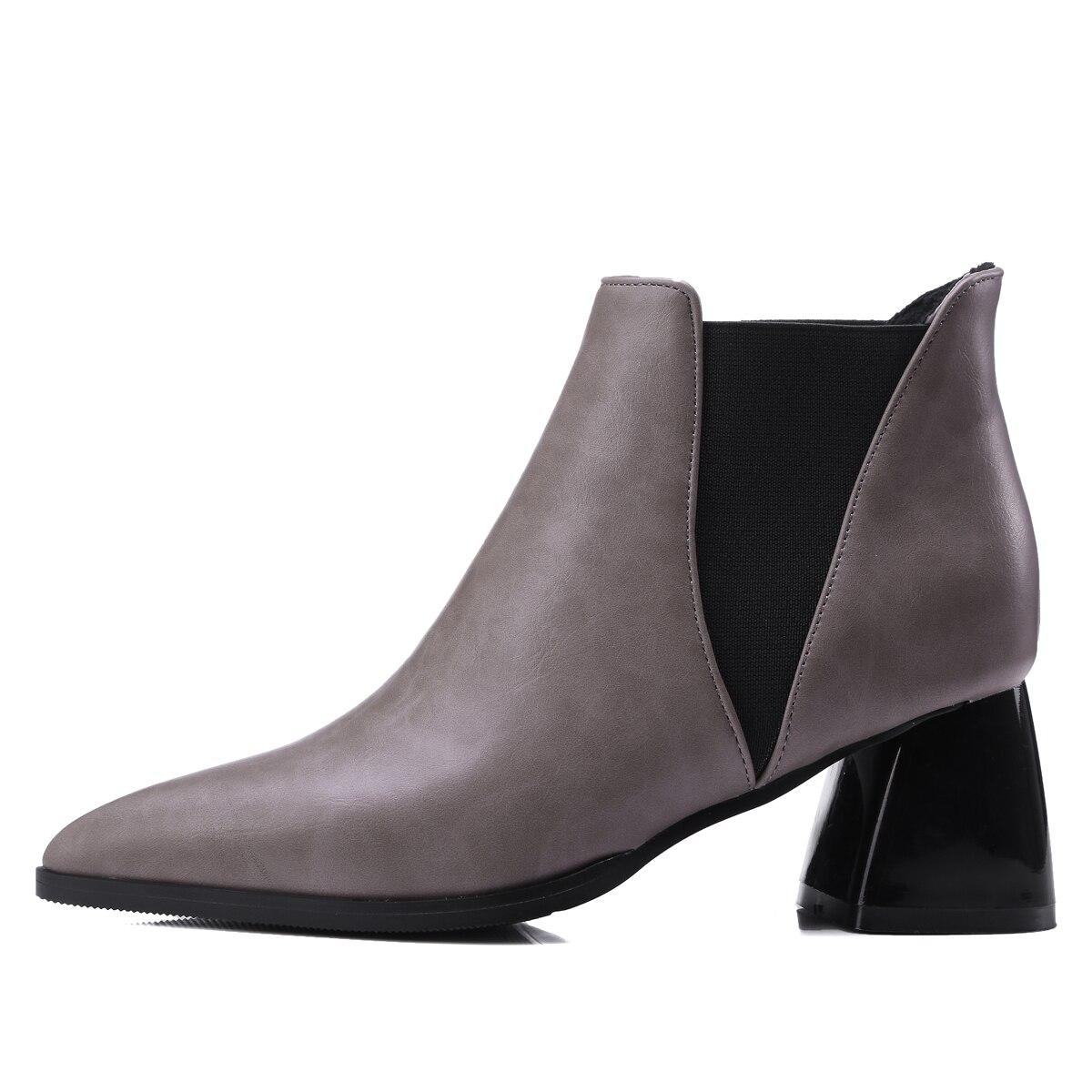 Size34 Orteils Talons Hauts À Avec De Mode rouge Pointu Noir Courtes 43 Qzyerai Nouvelle Automne En gris Femmes La Et Européenne Bottes Chaussures W47wxnUAq8